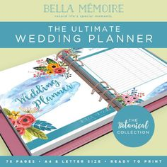 Printable Wedding Planner  Botanical Collection // by BellaMemoire