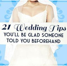 Wedding tips to know before planning your wedding.