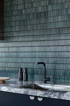Bathroom Interior Design, Interior Design Kitchen, Küchen Design, House Design, Kitchen Splashback Tiles, Cocinas Kitchen, Cool Kitchens, Interior Inspiration, Interior Architecture
