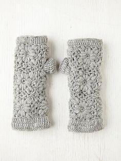 Crochet Fleece Armwarmer. Figuer Out Pattern.