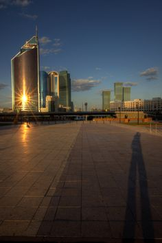 https://flic.kr/p/cpVFTb | astana sunset reflections | Golden hour in Kazakhstan Capital. I like how the sun reflects on buildings...