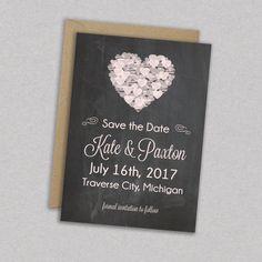 DIY Printable Wedding Save the Date Modern by MintCloudLLC