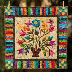 Spring Bouquet wall hanging | by Huntspatch Quilts