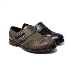 Zapato plano oxford para niñas. Marca: Gobbs, modelo 8209. Disponible en color marrón y negro (26.95€).