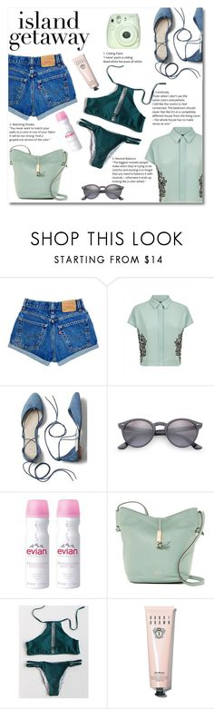 """""""Island getaway"""" by norairh ❤ liked on Polyvore featuring Jaeger, Gap, Ray-Ban, Evian, Vince Camuto and Bobbi Brown Cosmetics"""
