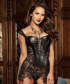 2c79a5243e Faux Leather Corset Dress Leather Corset