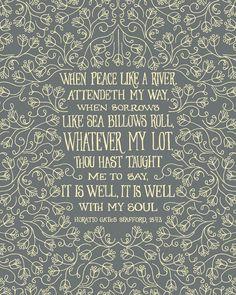 It is Well with my Soul. Christian Hymn Art. My Paisley World http://mypaisleyworld.blogspot.com/
