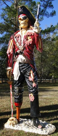 Amazon.com: Life size PIRATE SKELETON STATUE undead caribbean old style sculpture man cave: http://www.amazon.com/PIRATE-SKELETON-STATUE-caribbean-sculpture/dp/B00NSXO7IW/ref=as_sl_pc_as_ss_li_til?tag=pintiristboards-20&linkCode=w01&linkId=14c1aba3d630af120b137ff8d55550a6&creativeASIN=B00NSXO7IW