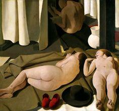 Felice Casorati (1883-1963, Italy) - Meriggio / Noon