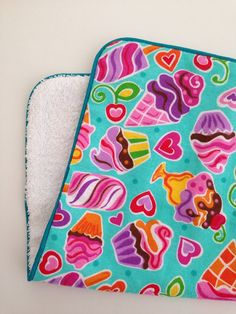 Baby Girl Burp Cloth Sweet Treats by DirtyRags on Etsy