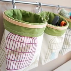 Easy, DIY storage solution. Tutorial included! I just thought of this but you could put in like nuts and fruit!