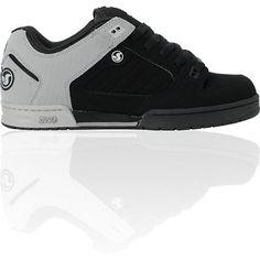 DVS Militia Black & Grey Nubuck Skate Shoe