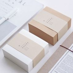 Muji Style Kraft Memo Pad Blank Page Mini Notepad Portable Sticky Notes Post It Paper Bookmark School Office Supplies Packaging Box, Bakery Packaging, Candle Packaging, Jewelry Packaging, Design Packaging, Brand Packaging, Packaging Carton, Ecommerce Packaging, Simple Packaging