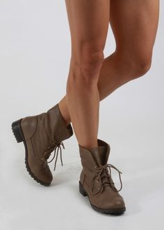 Dollhouse Strength Brown Convertible Combat Boots | Strength ...