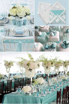 Color Palette: Tiffany Blue and White Wedding Ideas | Calligraphy by Jennifer