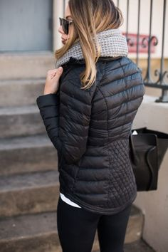 black puffer jacket perfect for those winter days