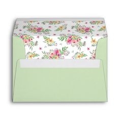 Shop Pink Watercolor Floral Envelope created by Personalize it with photos & text or purchase as is! Pink Invitations, Invitation Cards, Wedding Invitations, Botanical Wedding Stationery, Tea Party Theme, 10 Envelope, Custom Printed Envelopes, Pink Watercolor, Wedding Colors