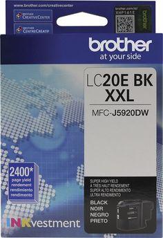 Brother - LC20EBK XXL Super High Yield Ink Cartridge, LC-20EBKS
