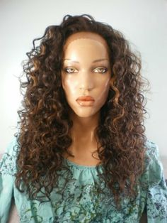 """Front Lace DENISE wig (heat resistant Hair) by Isis Collection-F1B-33 by ISIS Collection. $52.00. Cap construction Front Lace wig: lace on front (from ear to ear); machine weft in middle. Wig features 2 combs on front and 1 on back, adjustable straps with hooks on back. Lace type French lace. Lace Size extends 1"""" into crown. Made of Futura heat resistant synthetic wig. Red Carpet Premier lace front wig Denise. Denise is made with futura fiber, 20 inches long, w..."""