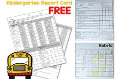 Assessment report cards for kindergarten. These assessments and this report card is aligned to the common core state standards. See how I work assessment into my day without stopping instruction.