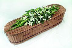 Oriental White Lily Casket Spray