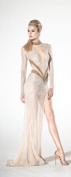 Charbel Zoé Spring 2016 Couture - sexy, blingy and gorgeous. Style Couture, Couture Fashion, Fashion Show, Fashion Design, Gothic Fashion, Fashion Fashion, Elegant Dresses, Sexy Dresses, Robes Glamour