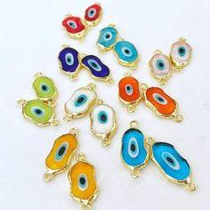 Evil Eye Jewelry, Evil Eye Bracelet, Diy Jewelry Supplies, Eye Protection, Hamsa, Murano Glass, Gold Beads, Baby Blue, Glass Beads