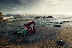 """Animator Jeff Hong created """"Unhappily Ever After,"""" a tumblog that brings classic Disney characters into the far less whimsical real world…"""