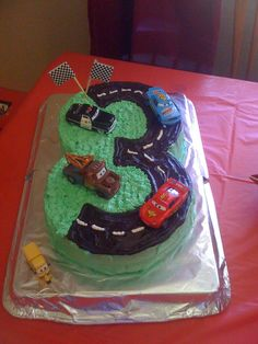 Do 5 instead of 3 Cars Birthday Party Birthday Cake! 3rd Birthday Cakes, Cars Birthday Parties, Third Birthday, Birthday Fun, Birthday Ideas, Cakes For Boys, Cute Cakes, Cupcake Cakes, Life