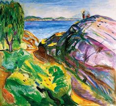 Munch, Edvard : Sommer an der Küste, Krage...