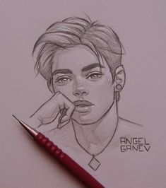 Pretteh Boii - Day by AngelGanev - Zeichnen - Art Sketches Girl Drawing Sketches, Art Drawings Sketches Simple, Guy Drawing, Pencil Art Drawings, Drawing People, Cartoon Drawings, Cool Drawings, Cartoon Art, Painting & Drawing