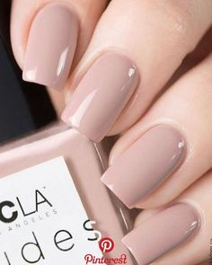 We have 6 nudes in our collection, pictured is 💅🏻, which is a nude with a pink undertone. Swatch via – Nails Club Classy Nails, Stylish Nails, Simple Nails, Trendy Nails, Neutral Nails, Nude Nails, Perfect Nails, Gorgeous Nails, Nail Paint Shades