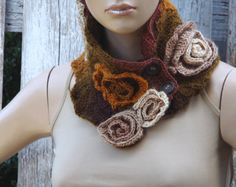 Crochet  Scarf  Capelet Woman's Shawl Cape Free Form