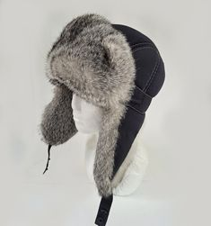READY TO SHIP Aviator Fur Hat, Fur Ear Flap Hat, Men real fur hat, Trapper Hat, Ushanka, Russian Hat, Ski Hat, Rabbit Fur, Fur Hat Ear Flaps Rabbit Fur Hat, Russian Hat, Fur Hats, Flap Hat, Hat Men, Aviator Hat, Trapper Hats, Fur Collars, Fur Trim