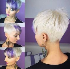 White hot violet hair
