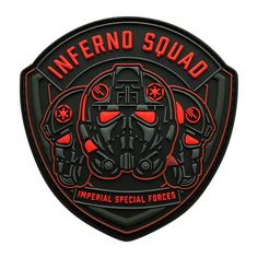 Star Wars Inferno Squad Imperial Special Forces Shield Patch Made & Sold by Miltacusa® Specs High Quality PVC Rubber Patch Size: x inch Hook Backing (Loop Not Included) Special Forces Logo, Special Forces Patch, Velcro Patches, Cool Patches, Tactical Patches, Star Wars Fan Art, Morale Patch, Badge, Stars