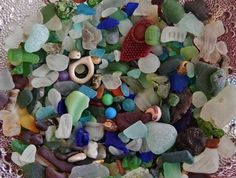 Fond Memories - Toronto Sea Glass: ~ submittedbyAnne Olson, Toronto, Ontario, Canada Where was this photo taken? This photo is a capture of beach gems collected from several