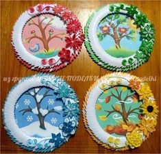 Paper Plate Crafts 545146729877333607 - Saisons Source by nadiaboudinar Kids Crafts, Summer Crafts, Fall Crafts, Projects For Kids, Diy For Kids, Diy And Crafts, Arts And Crafts, Creative Crafts, Paper Plate Crafts