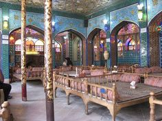 Iranian Traditional Teahouse in Isfahan, IRAN. Photographer:unknown