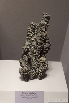 Botryoidal Romanechite Formation from Bartow Co., GA