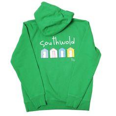 Southwold Beach Hut Hoodie - Green