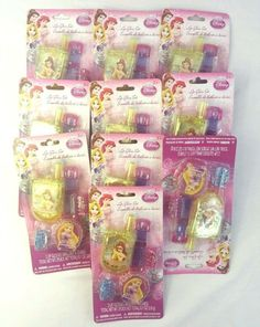 10 Disney Princess 2 Lip Gloss 2 Hair Clip Set New Party Birthday Gift Bag Filler #Disney #BirthdayChild #GiftBag