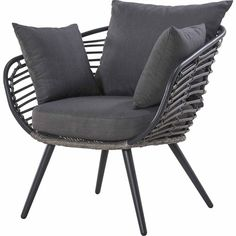 NouveauContempo Relaxing Chair Sit back and relax with this dark coloured and elegant furniture option, which is part of the versatile Contempo Collection.All-weather wicker. Outdoor Lounge Furniture, Outdoor Chairs, Outdoor Decor, Bbq Area, Sit Back And Relax, Wicker, Outdoor Living, Cushions, Elegant