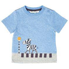 Buy John Lewis Baby Zebra Crossing T-Shirt, Blue Online at johnlewis.com