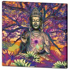 Healing Nature - Kwan Yin Buddha Goddess Canvas Art Print - Premium Canvas Gallery Wrap - Fusion Idol Arts - New Mexico Artist Christopher Beikmann