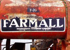 Antique Farmall F-20 gas tank