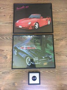 Zeer mooie foto's In Frame Vintage cars 2 stukken poster en een originele metalen corvette tekenen in frame  Zeer mooie foto's In Frame Vintage cars 2 stukkenEr zijn 2 mooie foto's met 2 prachtige oldtimers auto 'sPorsche en Chevrolet Corvettefoto's zijn in zwart frame met glasgrootte zijn 50 / 40cmOok een corvette teken origineel in frame ook voor wanddecoratie14/14 cm  EUR 1.00  Meer informatie