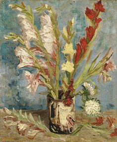 Vincent van Gogh - Vase with gladiolo and autumn asters at Van Gogh Museum Amsterdam