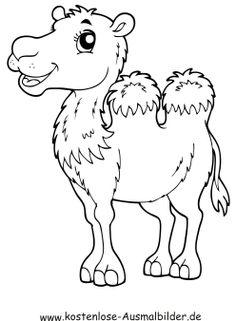 kamel ausmalbild - ausmalbilder für kinder   ausmalbilder, alphabet malvorlagen, malvorlagen pferde