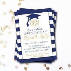 Diy graduation invitation party ideas pinterest graduation monogram graduation invitation navy graduation invitation filmwisefo